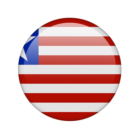 The Liberian flag in the form of a glossy icon. Stock Photo - 16760680