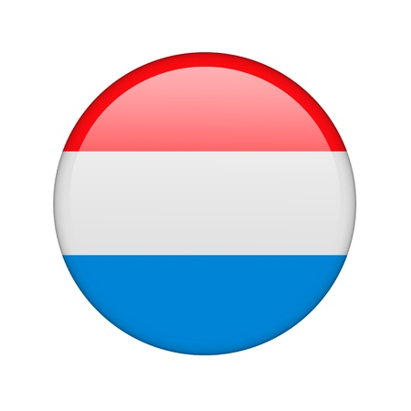 The Luxembourg flag in the form of a glossy icon. photo
