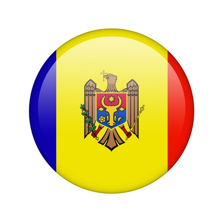 moldovan: The Moldovan flag in the form of a glossy icon. Stock Photo
