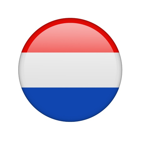 The Netherlands flag in the form of a glossy icon. photo