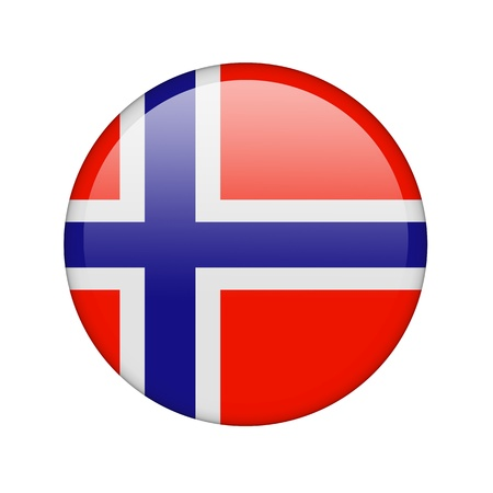 The Norwegian flag in the form of a glossy icon. photo