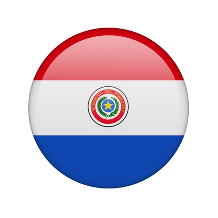 The Paraguayan flag in the form of a glossy icon. photo