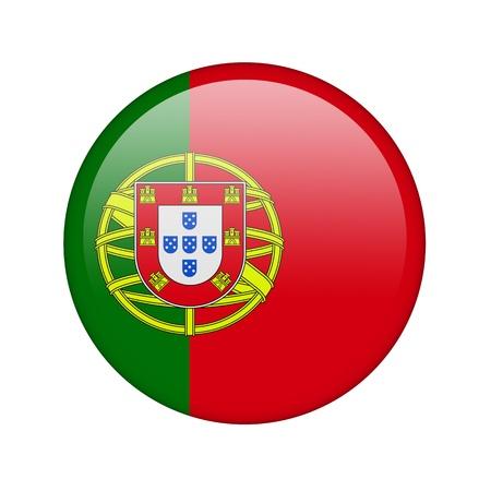 drapeau portugal: Le drapeau portugais sous la forme d'une icône de papier glacé. Banque d'images