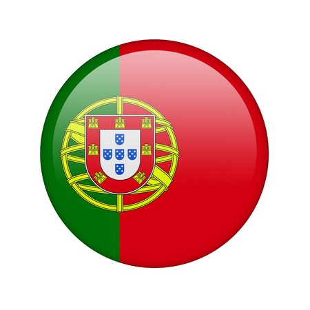 The Portuguese flag in the form of a glossy icon. Stock Photo - 16761052