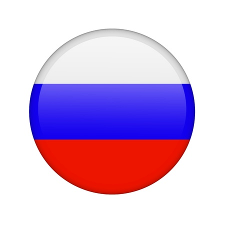 The Russian flag in the form of a glossy icon. photo