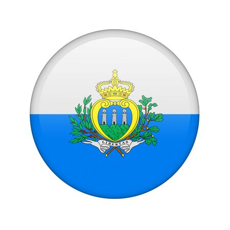 marino: The San Marino flag in the form of a glossy icon.