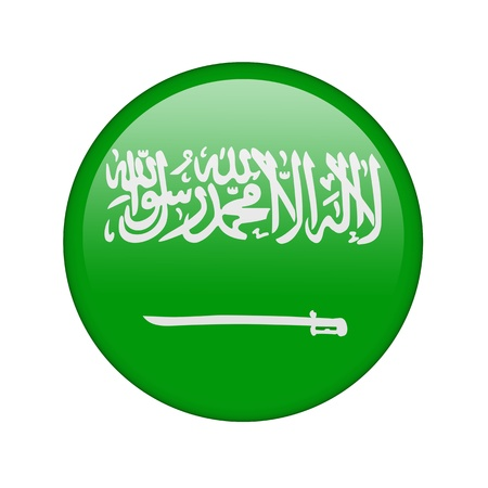 The Saudi Arabia flag in the form of a glossy icon. photo