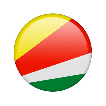The Seychelles flag in the form of a glossy icon. Stock Photo - 16760690