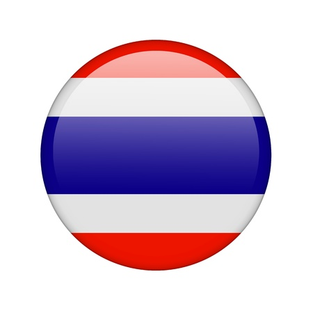 The Thai flag in the form of a glossy icon. photo