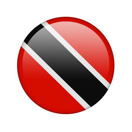 The Trinidad and Tobago flag in the form of a glossy icon. Stock Photo - 16760687