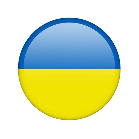 ukrainian flag: The Ukrainian flag in the form of a glossy icon.