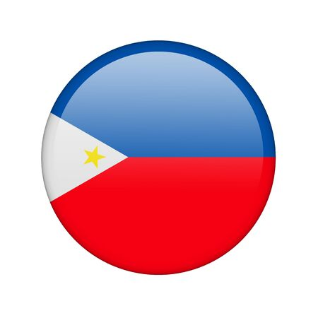 The Philippines flag in the form of a glossy icon. Stock Photo - 16760679
