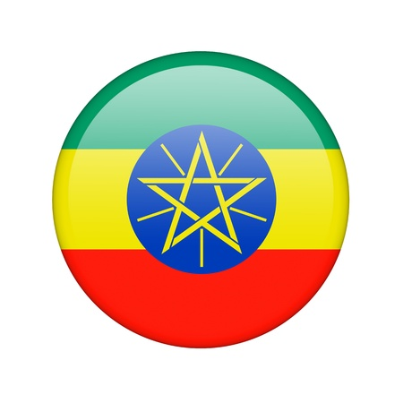 The Ethiopia flag in the form of a glossy icon. photo