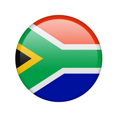 The South African Republic flag in the form of a glossy icon. photo