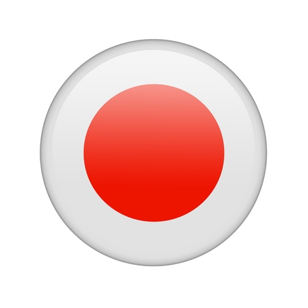japanese flag: The Japan flag in the form of a glossy icon.