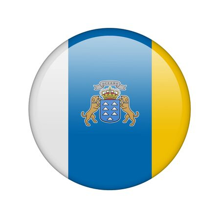 canary: The Canary Islands flag in the form of a glossy icon.
