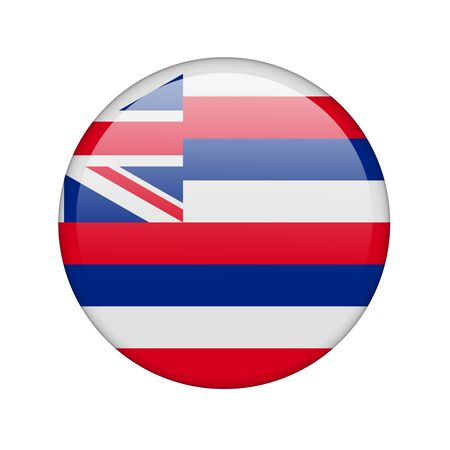 hawaii flag: The Hawaii flag in the form of a glossy icon.