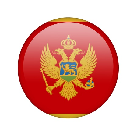 The Montenegro flag in the form of a glossy icon. photo