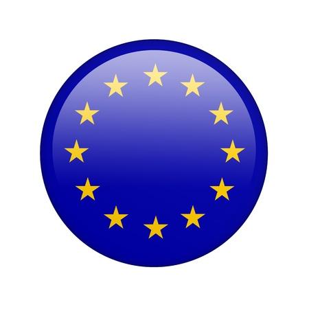 europeans: La bandiera dell'Unione europea in forma di icona lucido. Archivio Fotografico