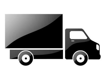 silhouette of a truck. glossy illustration Stock Illustration - 16927183