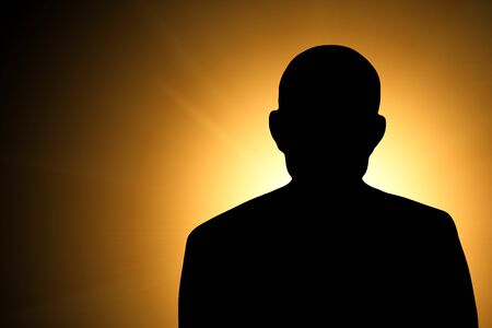 unnamed: silhouette of an unknown man. Illustration Stock Photo