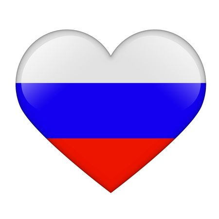 The Russian flag in the form of a glossy heart Stock Photo - 17476661