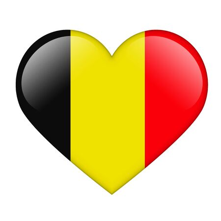belgium flag: The Belgian flag in the form of a glossy heart