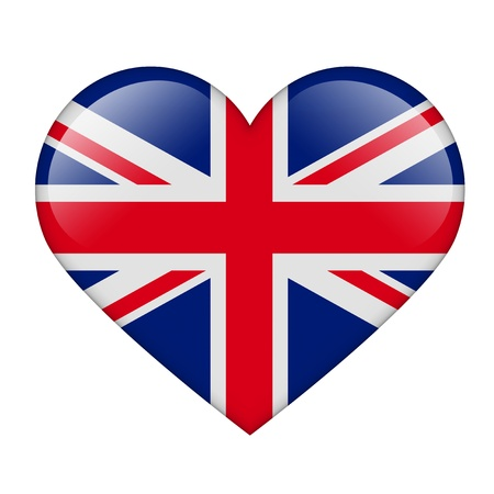 The British flag in the form of a glossy heart Stock Photo - 17476745