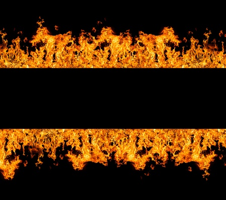 text free space: Fire stripe with free space for text Stock Photo