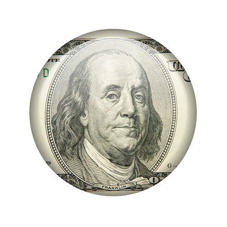 Glossy icon in the style of one hundred dollars Stock Photo - 18243323