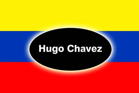 hugo: The Venezuelan flag in mourning style Stock Photo