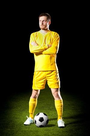 football player on grass field Stock Photo - 18465171