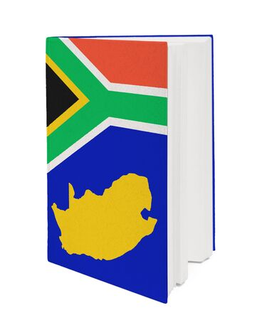 Book with the national flag and contour Republic of South Africa photo