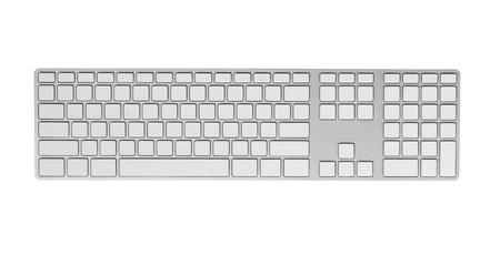 Keyboard with blank keys  Isolated on white  photo