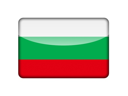 aruba flag: The Bulgarian flag in the form of a glossy icon