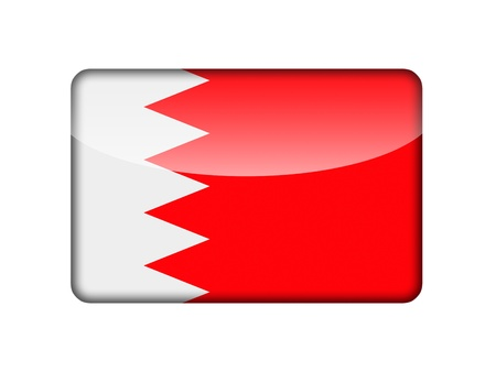The Bahraini flag in the form of a glossy icon  photo