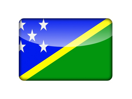 aruba flag: The Solomon Islands flag in the form of a glossy icon  Stock Photo