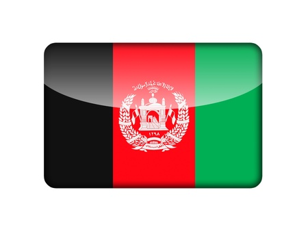 afghan flag: The Afghan flag in the form of a glossy icon