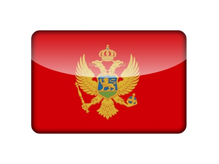 aruba flag: The Montenegro flag in the form of a glossy icon