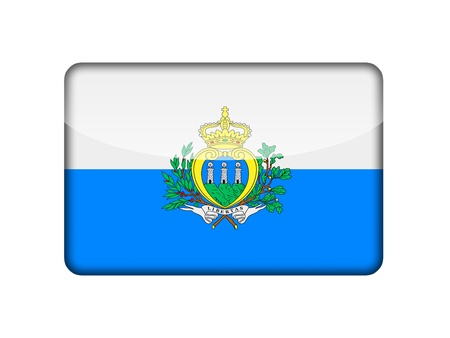marino: The San Marino flag in the form of a glossy icon