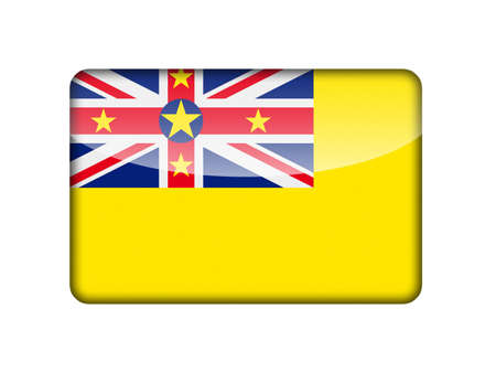 aruba flag: The Niuean flag in the form of a glossy icon