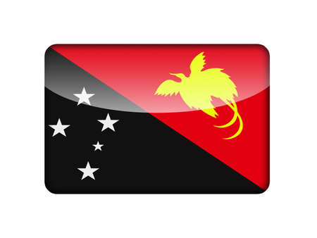 aruba flag: The Papua New Guinea flag in the form of a glossy icon  Stock Photo
