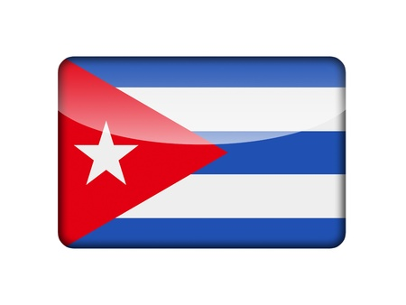 cuban flag: The Cuban flag in the form of a glossy icon