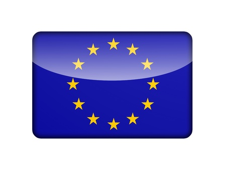 The European Union Flag in the form of a glossy icon
