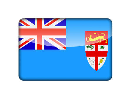 fiji: The Fiji flag in the form of a glossy icon