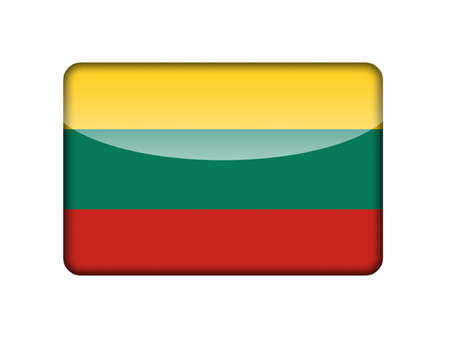 aruba flag: The Lithuanian flag in the form of a glossy icon