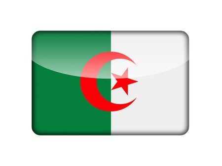 algerian: The Algerian flag in the form of a glossy icon