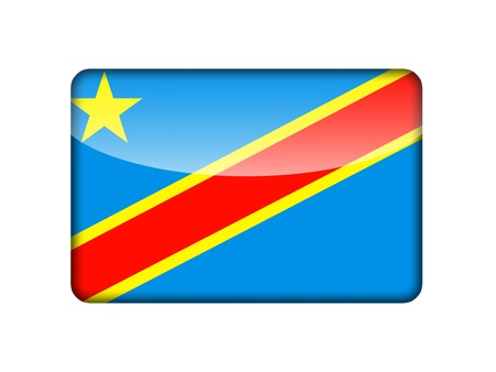 cote ivoire: The Democratic Republic of the Congo flag in the form of a glossy icon