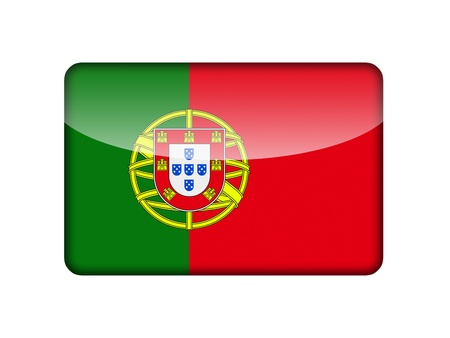 aruba flag: The Portuguese flag in the form of a glossy icon  Stock Photo
