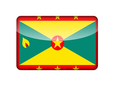 aruba flag: The Grenada flag in the form of a glossy icon